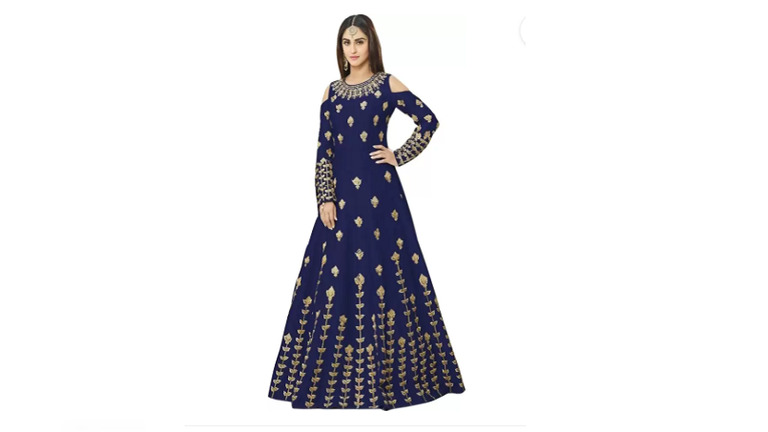 Siddeshwary Fab Satin Embroidered Gown