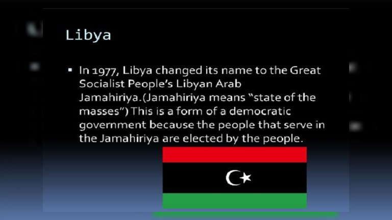 Libya Official Name is Great Socialist Libyan Arab Jamahiriya