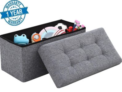 Foldable Large Storage Ottoman Bench