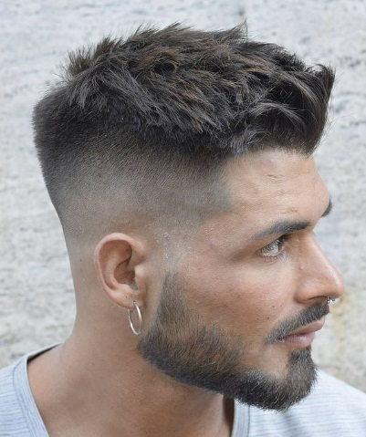 Long Buzz Cut Fade